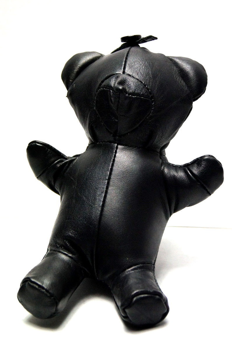 READYMADE VINTAGE LEATHER TEDDY BEAR DOLL-2016131163111.jpg