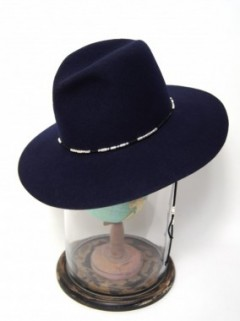 CUSTOM FEDORA HAT (BLACK・NAVY・KHAKI・BEIGE)