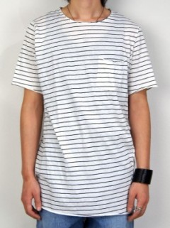 STRIPE RAW POCKET T-SHIRT