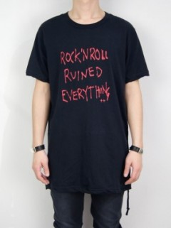 YOU RUINED EVERYTHING T-SHIRT WORN IN BLACK