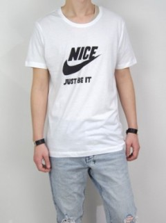 NICE JUST BE IT T-SHIRT (WHITE)