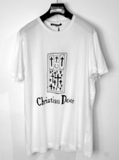 CHRISTIAN DOOR T-SHIRT (WHITE・BLACK)