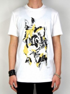 SILK SCREEN PRINT T-SHIRT(WHITE)