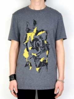SILK SCREEN PRINT T-SHIRT(GRAY)