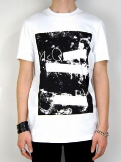 BLANKED OUT  SILK SCREEN PRINT T-SHIRT