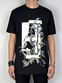 SNAKE SILK SCREEN PRINT T-SHIRT