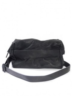 Leather-washed shoulder bag
