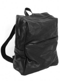 Leather-washed backpack