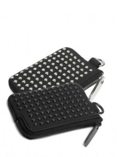 "LEATHER COIN CASE ""ALL STUDS"""
