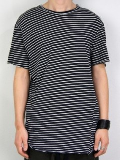 STRIPE RAW JERSEY T-SHIRT