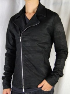 """DESTROY ""W RIDERS LEATHER JACKET"