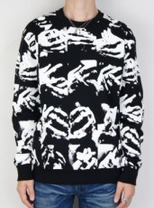 HAND SILK SCREEN PRINT SWEATSHIRT
