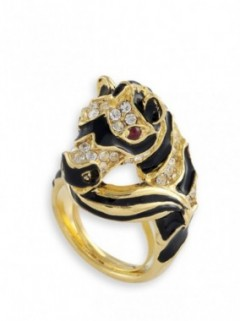 CRYSTAL ZEBRA RING
