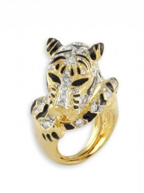 CRYSTA TIGER RING