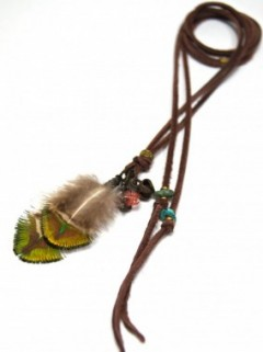 FEATHER&STONE NECKLACE