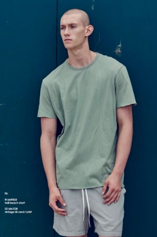 original button pocket tshirt (ECRU・MILITARY)