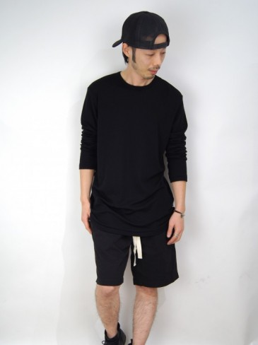 HERITAGE WOOL LONG SLEEVE T-SHIRT (GRAY・BLACK)