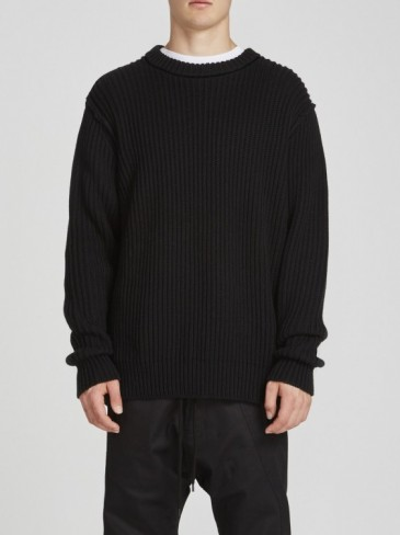 fishermans rib knit (GRAY MARL・BLACK)