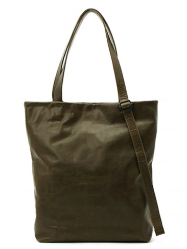 Leather tote 'papier'