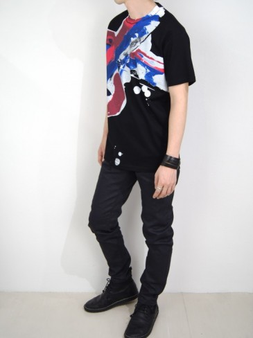 DRAWING PRINT T-SHIRT (BLACK・NAVY)