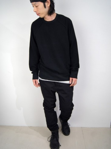 COTTON/CASHMERE RAGLAN SWEAT