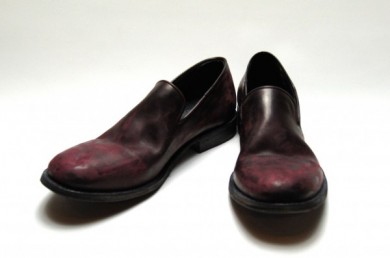 DESTROYED LEATHER SLIP-ON