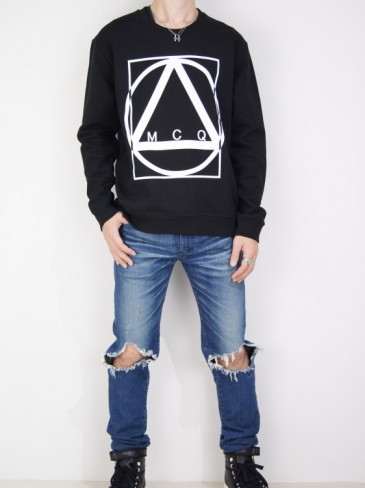 MULTI GEOMETRIC PRINT SWEATSHIRT