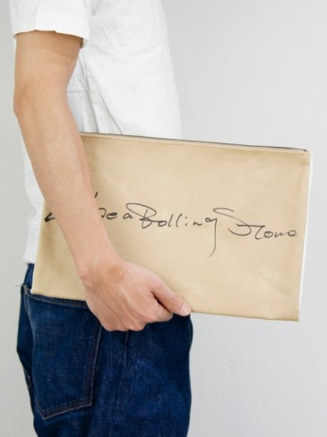 HITCHHIKE PAPER CLUTCH BAG/ (Like a Rolling Stone)
